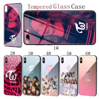 Po- IPHONE Tempered Glass Case Twice Mina Momo Kpop Phone Cover