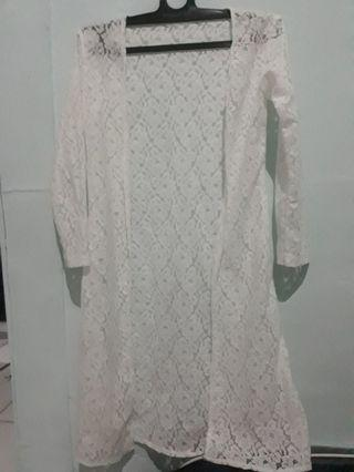 Long Lace outer white