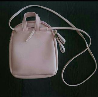 Sling Bag Pink Simple