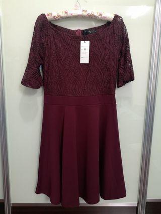 Purple Lace Dress Size M