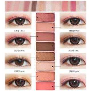 Instock- travel friendly 10 colors shimmer eyeshadow