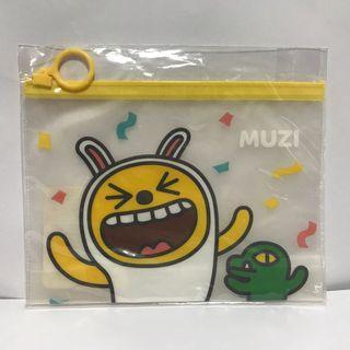 全新* 韓國KAKAO 可愛呆萌MUZI PVC 半透明收納袋