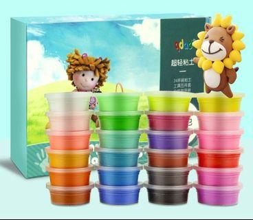 24 colours kids art and craft clay, READY STOCK