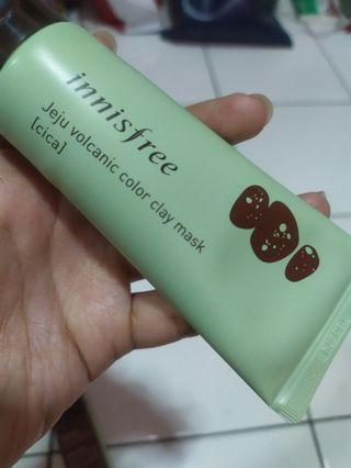innisfree jeju volcanic color clay mask 《cica》