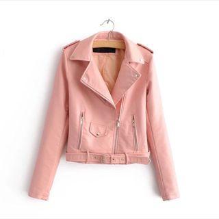 短版夾克 粉色