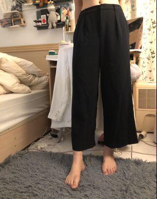 UNIQLO 深藍色西裝寬褲