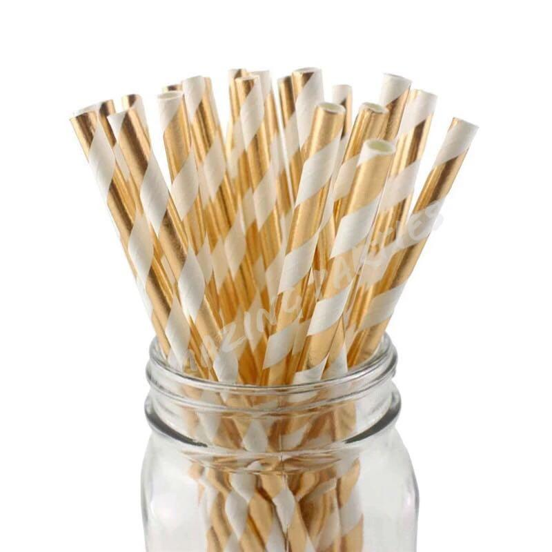 25 pc Shiny Paper Straw