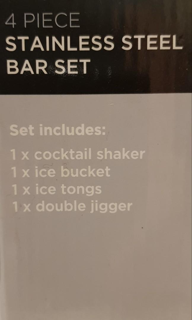 4 piece bar set