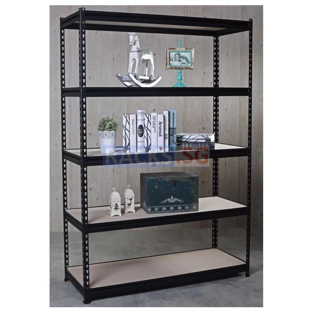5-Tier DIY Boltless Storage Rack with HDF Board Shelves