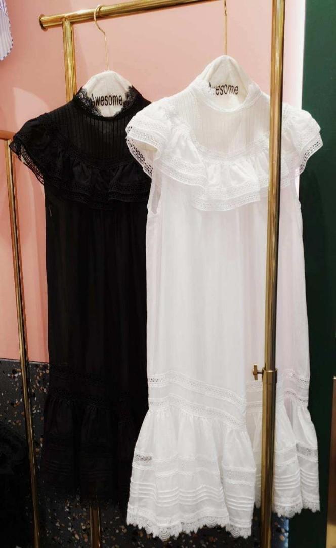 維納斯無袖蕾絲連身洋裝