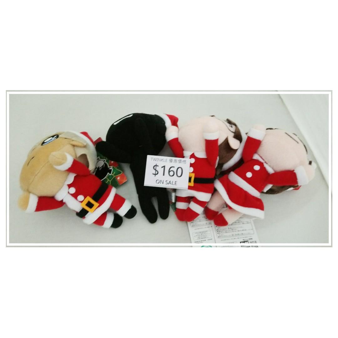 名偵探柯南 聖誕老人裝束造型 柯南景品毛公仔吊飾齊四款,原價$220,特價$160! @12x7cm