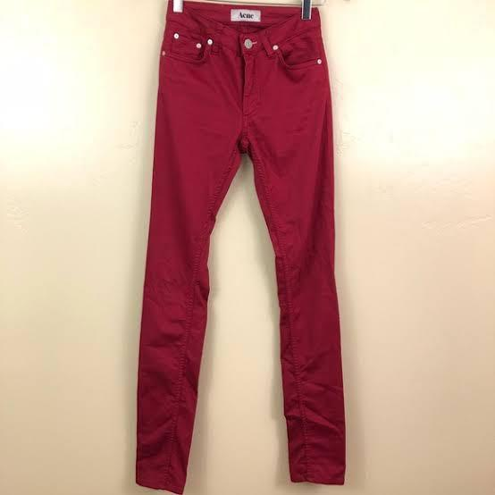 Acne Studios Red Jeans