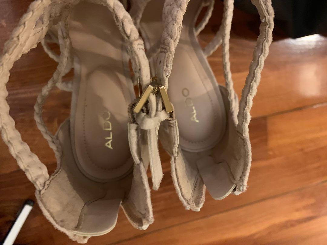 Aldo new heels half price n nude pink 39.5