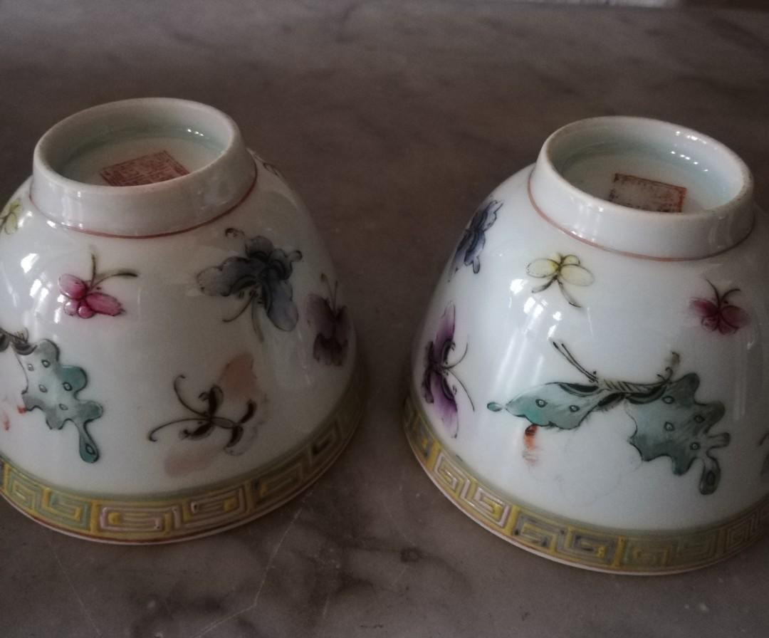 Antique Chinese Teacups