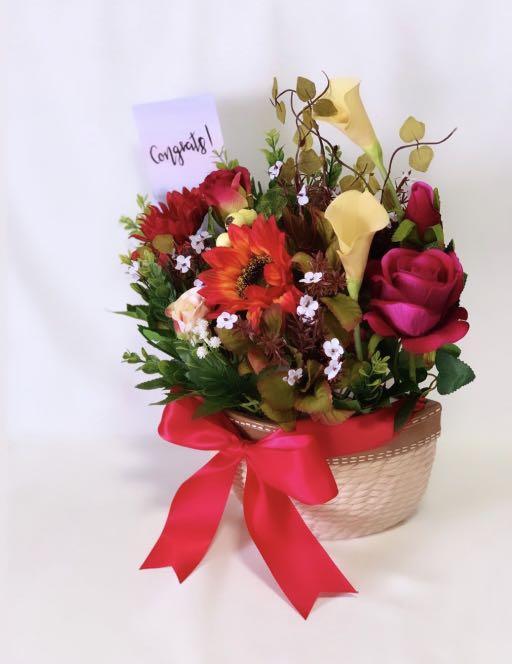 Artifical Flower Vase Arrangement (Large)