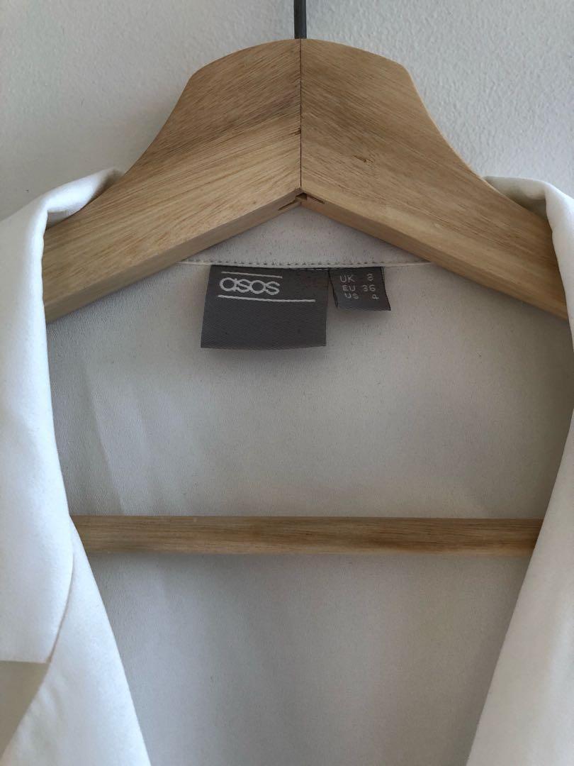 ASOS white collared blouse