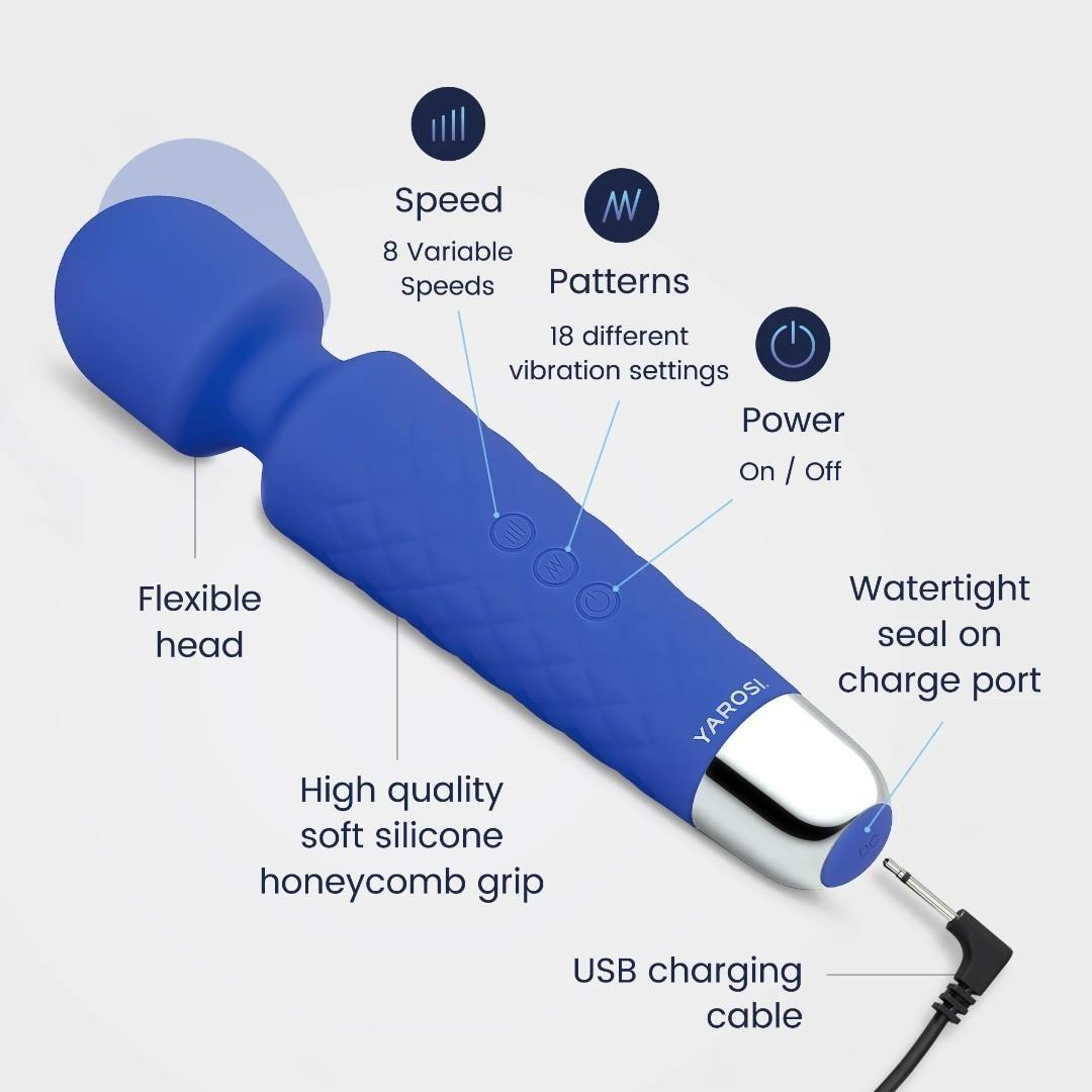 B0137 Yarosi - Mini Massager - Blue