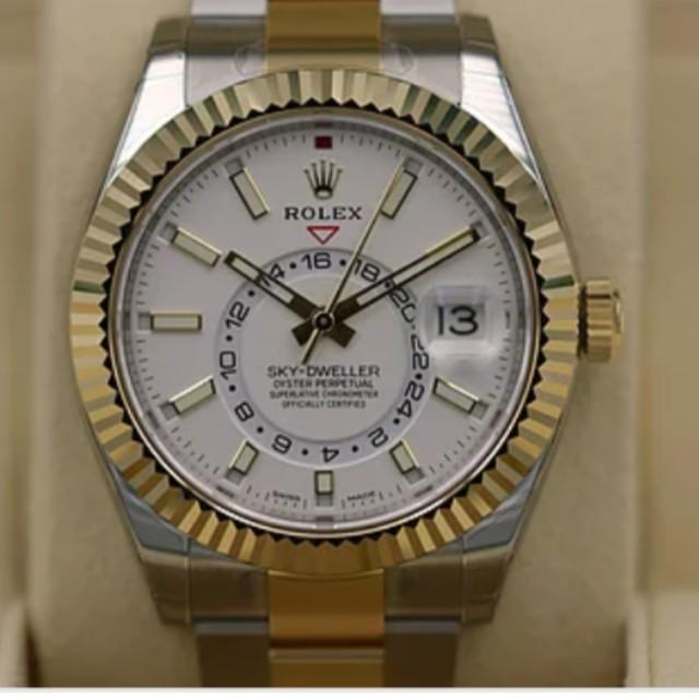 FIRE SALE SKY dweller two tone white dial, Luxury, Watches