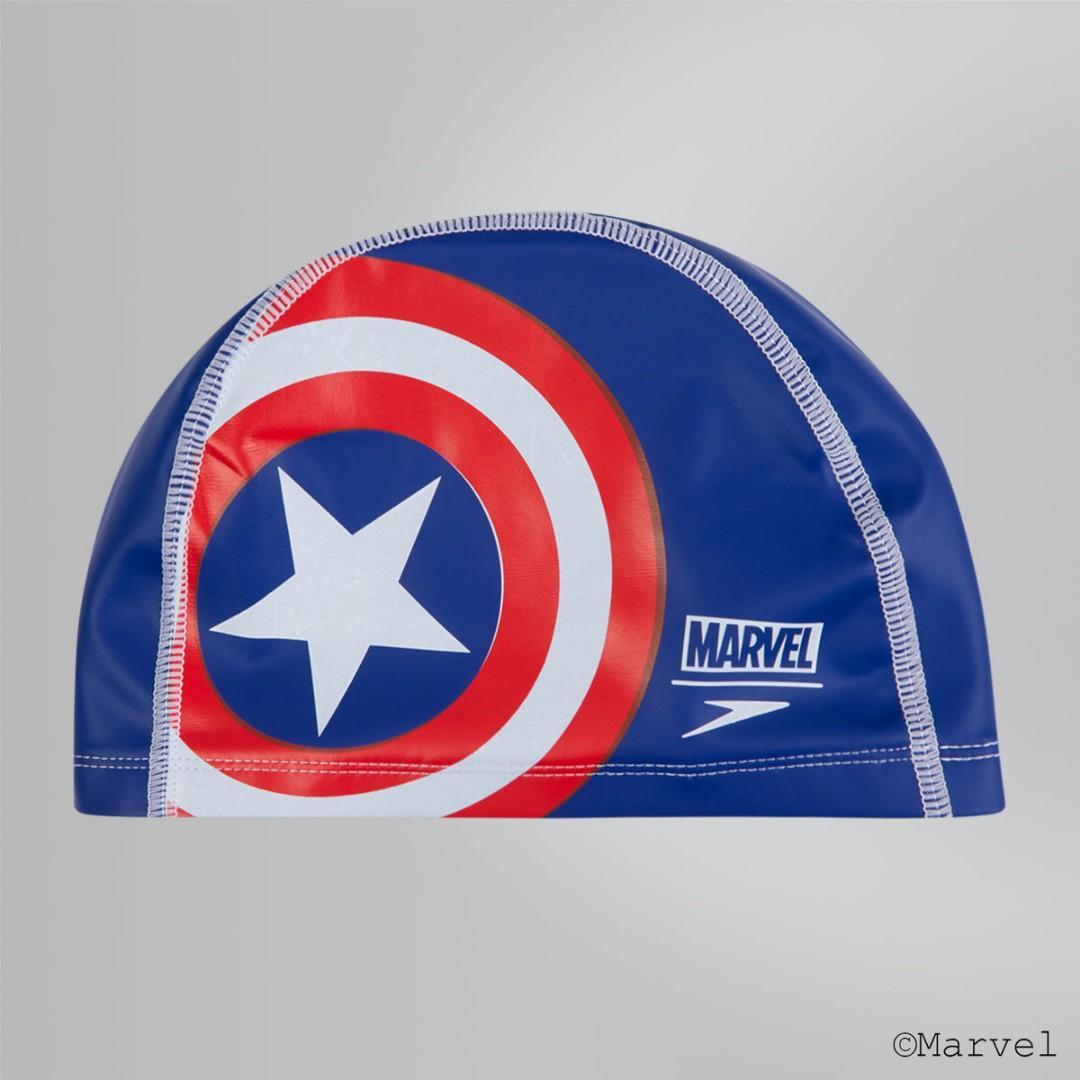 BNIP Speedo Marvel Captain America Swimming Cap With Free Local Mail