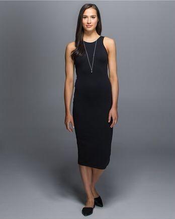 BNWT Lululemon Noir bodycon dress sz 4