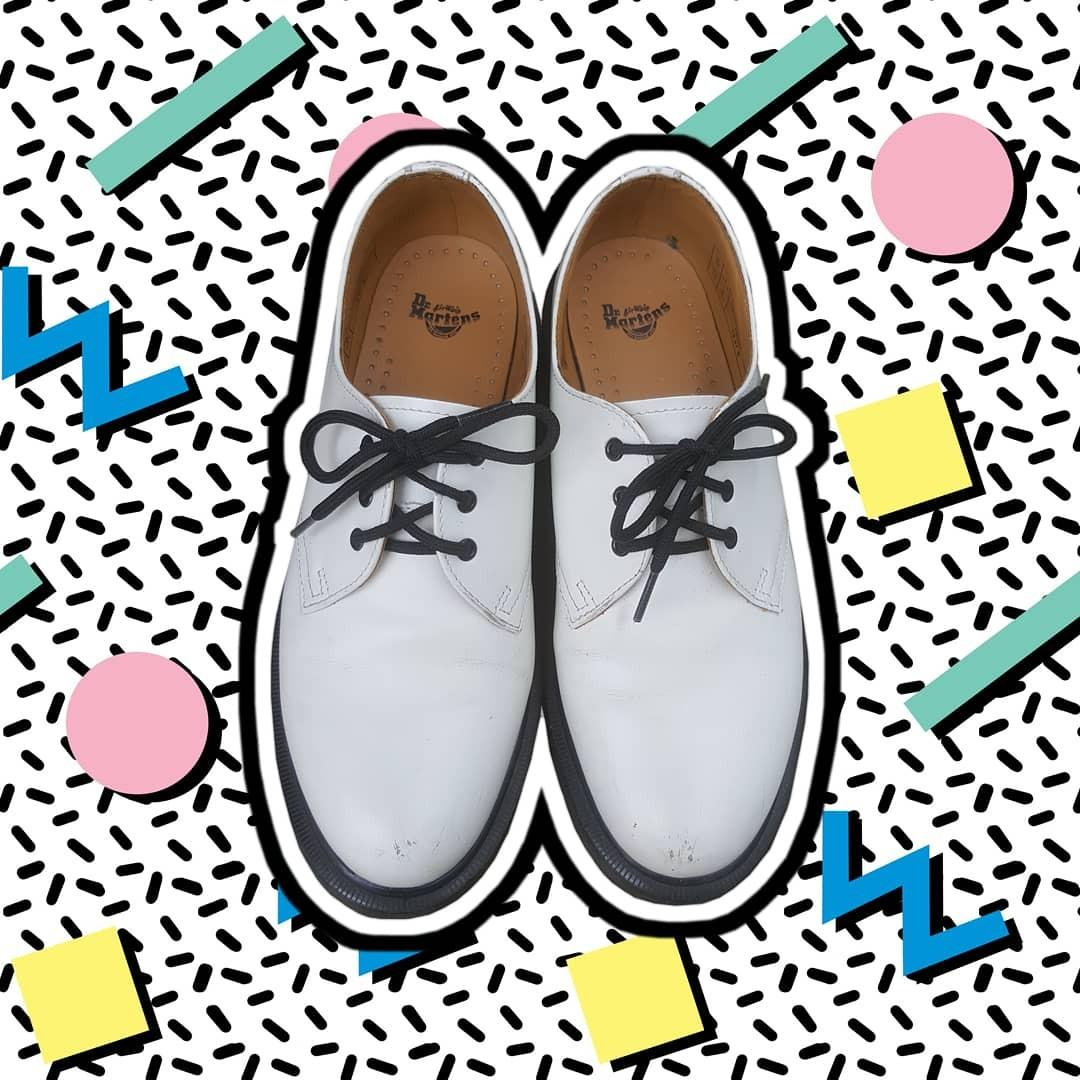 Doc Martens - White 3 Eyelet shoes Sz 8 women's US