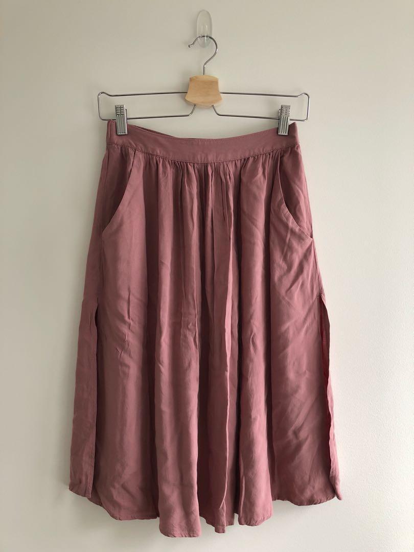 Forever21 pink midi skirt