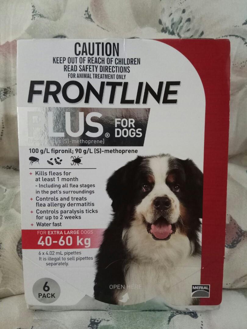 FRONTLINE FLEA & TICK PLUS 6s FOR X-LARGE DOG 40-60kg