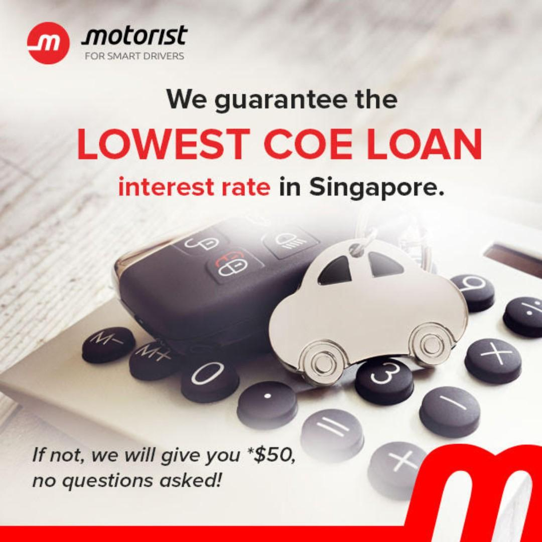 Get $50 if you find a lower COE loan interest rate ( FREE COE Renewal Advice)