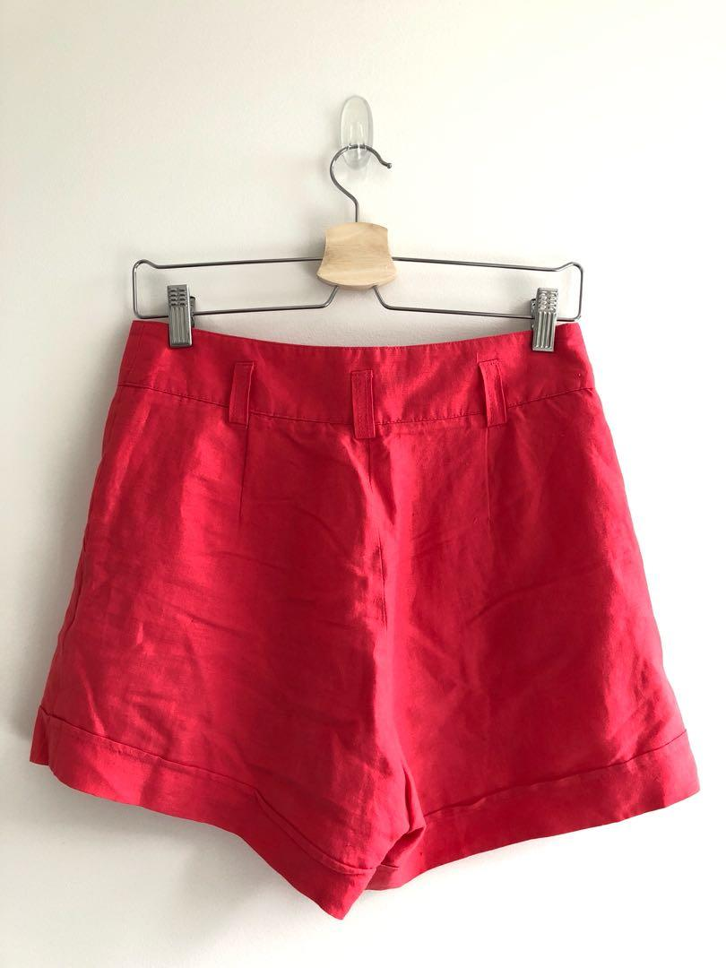 Glassons red shorts