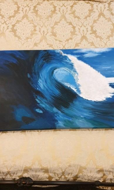 Hand painted wave