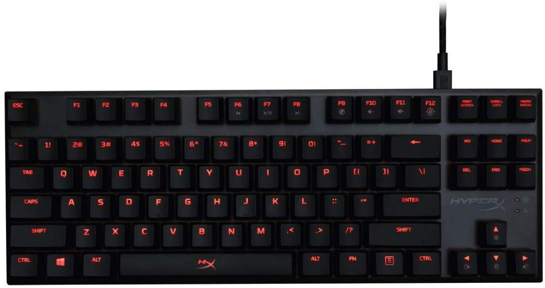 HyperX Alloy FPS Pro Tenkeyless Mechanical Gaming Keyboard, Cherry MX Red, Red LED (HX-KB4RD1-US/R1)