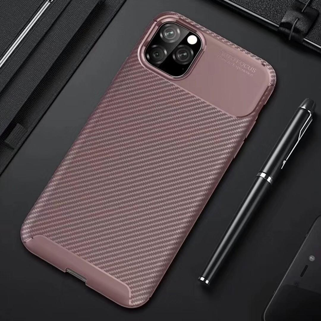 iPhone 11 / iPhone 11 Pro Max Carbon Fibre Armour Phone Case