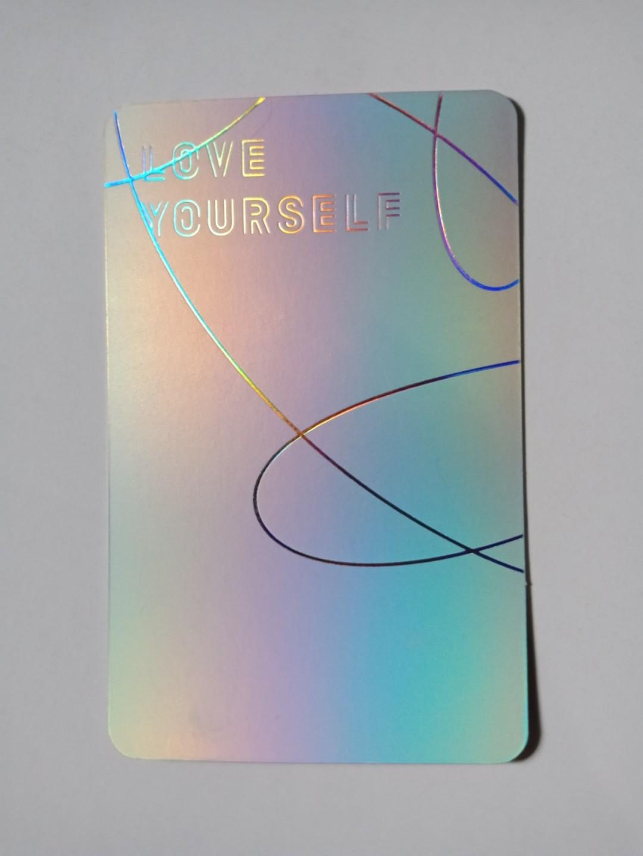 Jin Love Yourself Answer E version photocard