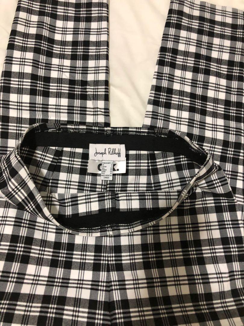 Joseph Ribkoff black and white plaid pants