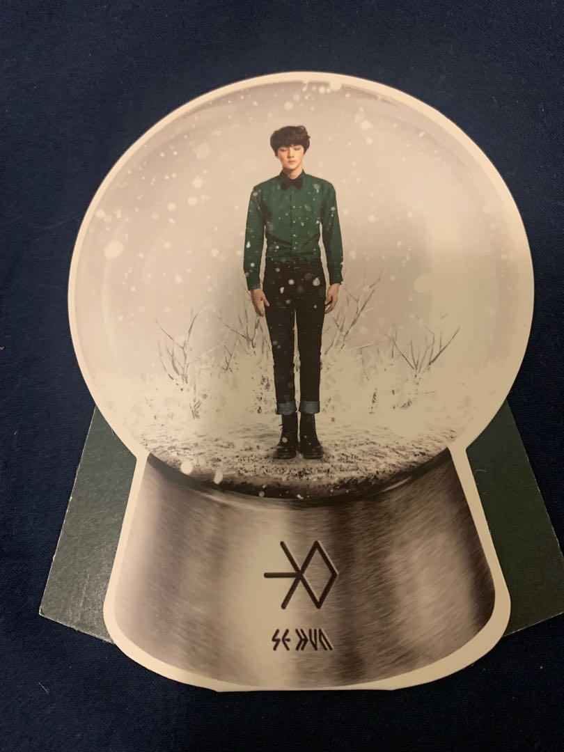 Kpop exo Miracles in December Chanyeol and Sehun photocard