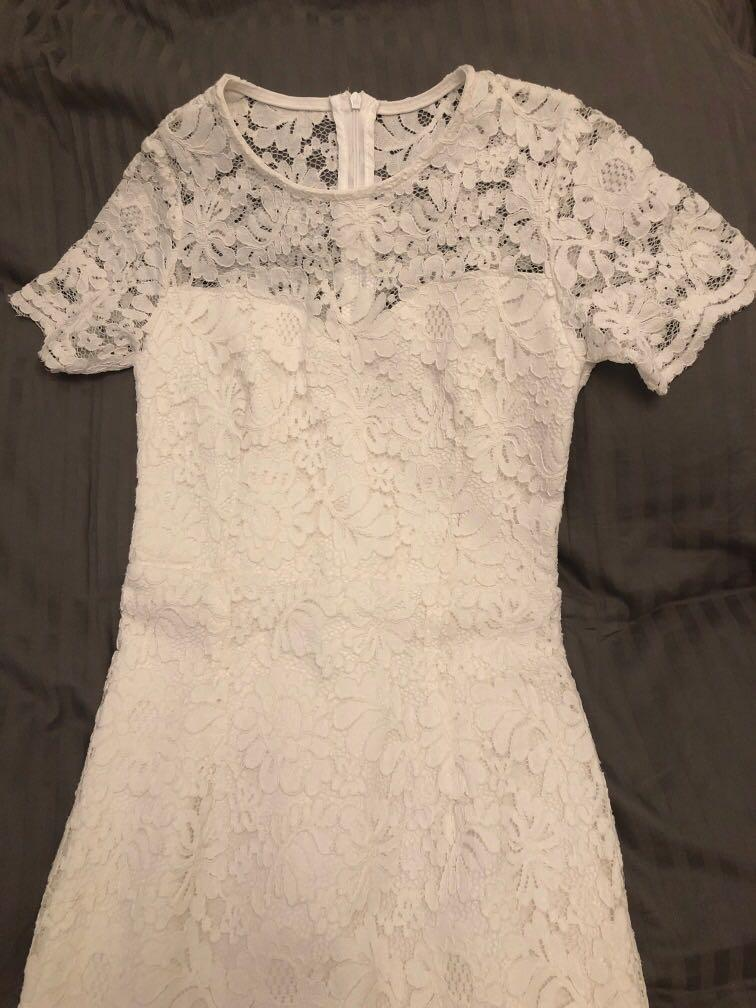 Lace sleeved Dress