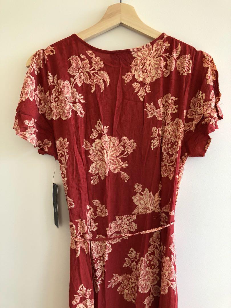 Lulus floral wrap maxi dress