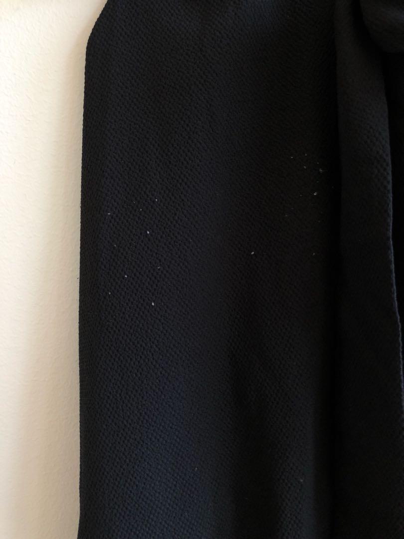 Monki collared dress with tie waist