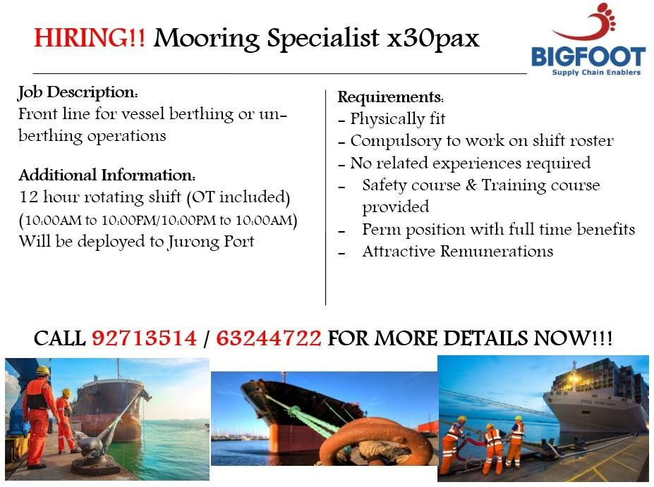 Mooring Specialist (Singaporean Only)