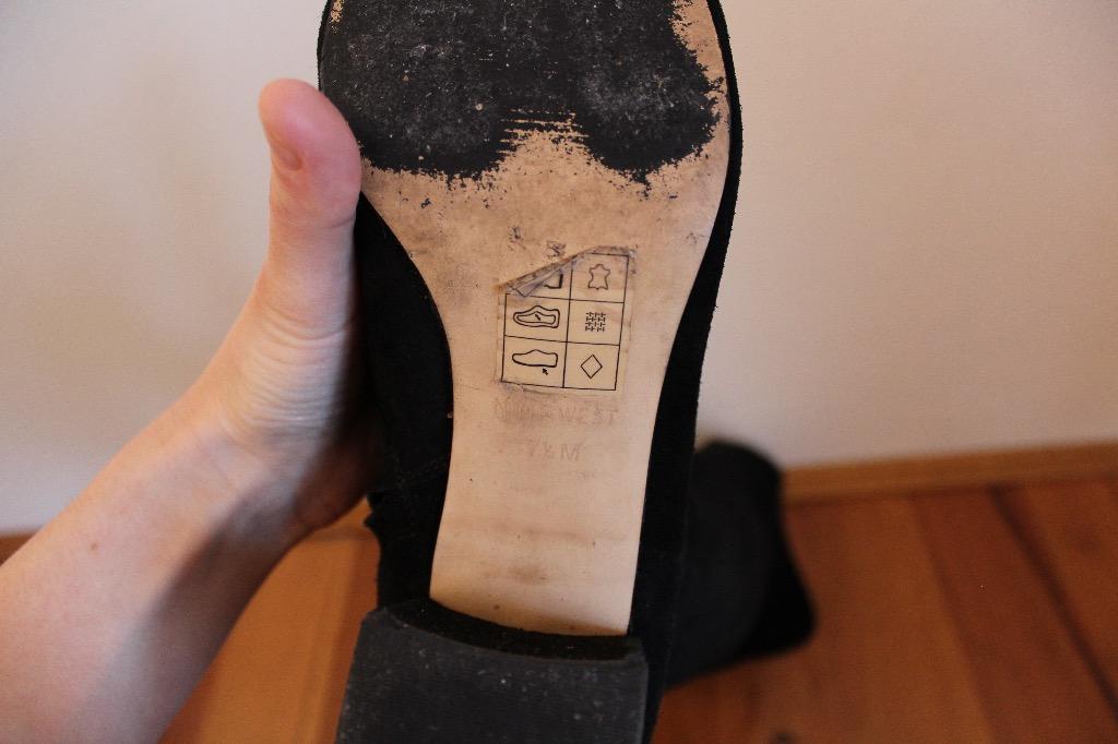 Nine West Voren Genuine Suede Over-the-Knee Black Boots