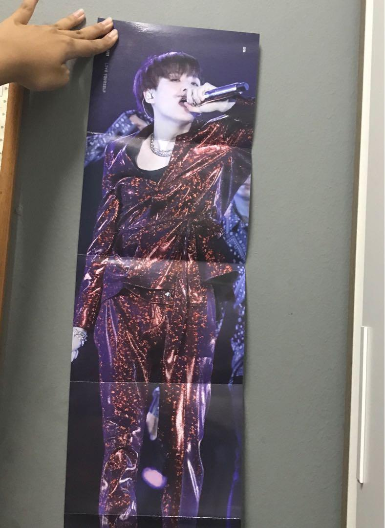 Official BTS Love Yourself Tour in Seoul Suga Folded Poster