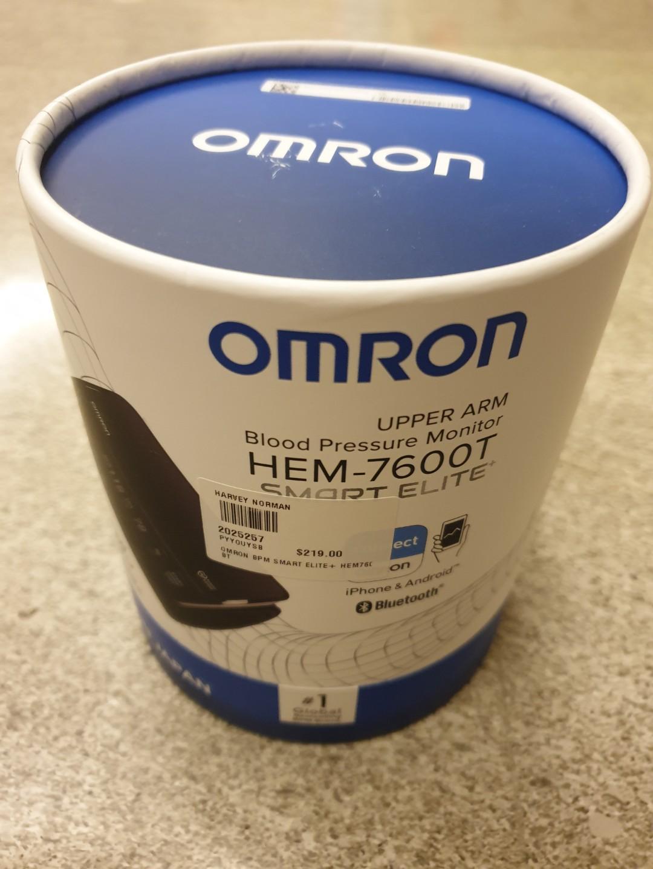 Omron upper arm blood pressure monitor HEM-7600T