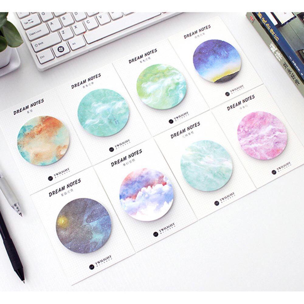 [PO] circle memopad sticky note pad