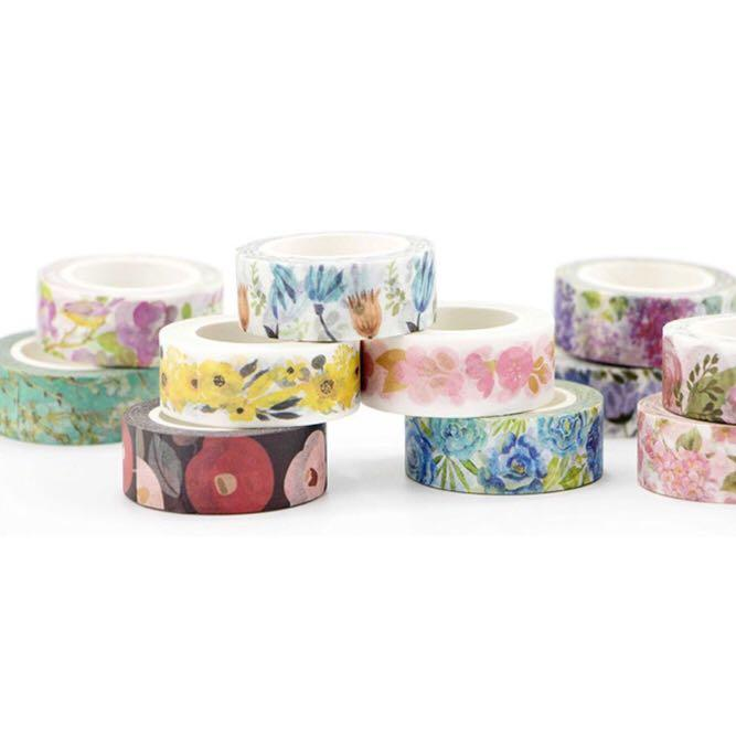 [PO] pink floral washi tape