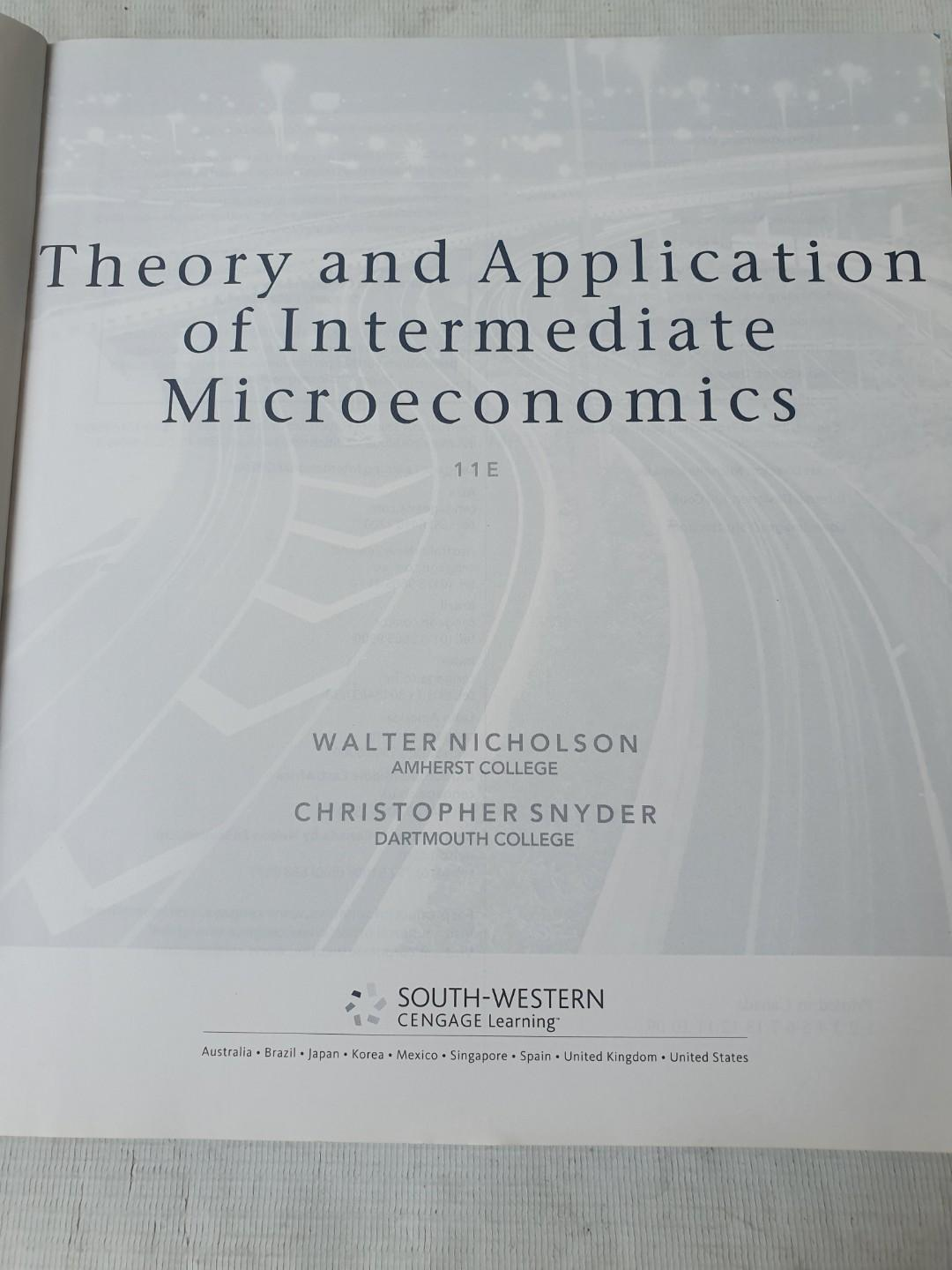 Preloved book Theory and Application of intermediate Macroeconomics by Nicholson and Synder