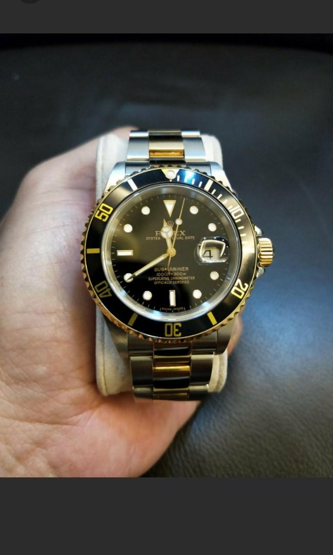 Rolex Submarine Half Gold