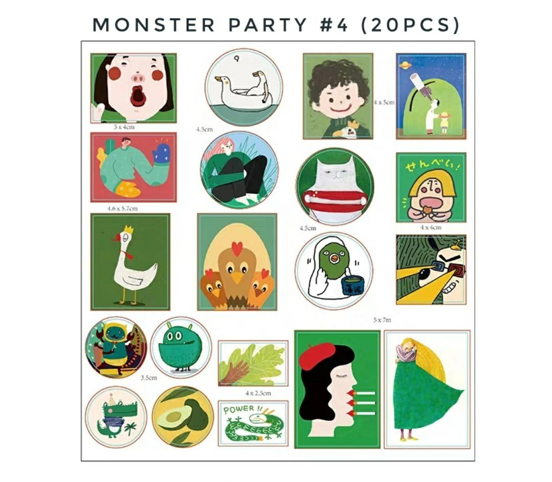 [S](#1-#5)Monster party stickers