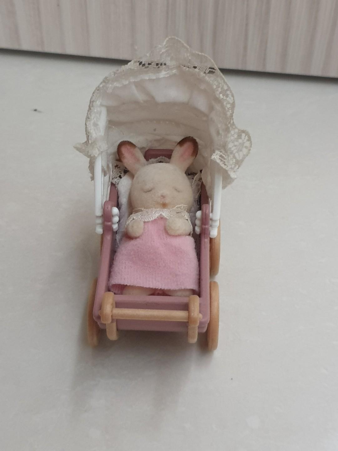 3 Sets Triple Bunk Bed Sylvanian Families Baby Swing /& Double Baby Carriage