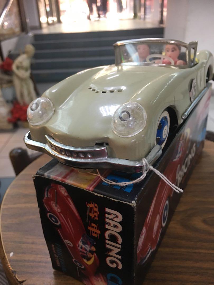 Vintage tin toy racing car