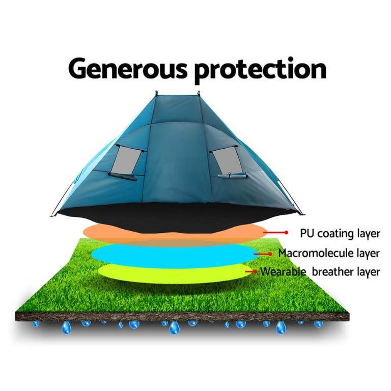 WEISSHORN 2-4 Person Camping Tent Beach Sun Shade Shelter